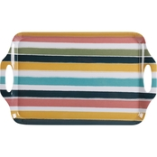 Gibson Home Tropical Sway Stripe Serving Tray 19 in.
