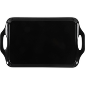 Gibson Home Tropical Sway Black Serving Tray 19 in.
