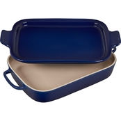 Le Creuset Heritage Rectangle Casserole with Platter Lid
