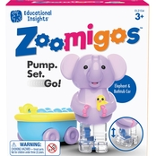 Educational Insights Zoomigos Elephant with Bathtub Zoomer