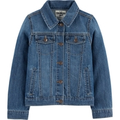OshKosh B'gosh Girls Knit Denim Jacket Size 7