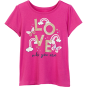 Pony Tails Little Girls Love Print Graphic Tee
