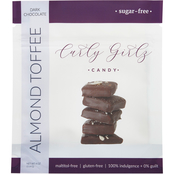 Curly Girlz Candy Sugar Free Almond Toffee 6 ct., 4 oz. each