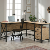 Sauder Steel River Collection L Desk