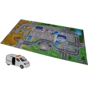 Dickie Toys Majorette Creatix Construction Playmat Playset with 1 Die Cast Car