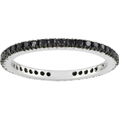 Sofia B. 14K White Gold 3/8 CTW Black Diamond Eternity Band