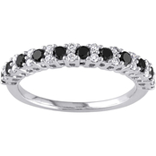 Sofia B. 10K White Gold 1/2 CTW Black and White Diamond Band