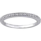 Sofia B. 10K White Gold Diamond Accent Wedding Band