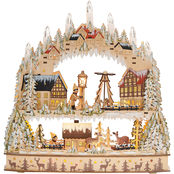 Roman 14.5 in. LED Laser Cut 2 Level Village Scene