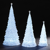 Roman LED Glitter Trees 3 pc. Set