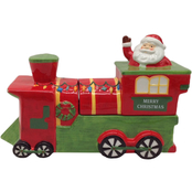 Gibson Home Santa Train Candy Jar