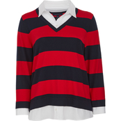 Tommy Hilfiger Rugby Stripe Mixed Sweater