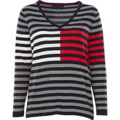 Tommy Hilfiger Plus Size Ivy Stripe Flag Sweater
