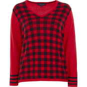 Tommy Hilfiger Ivy Buffalo Plaid Front Sweater