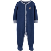 Carter's Infant Boys Bear Snap Up Thermal Sleep and Play