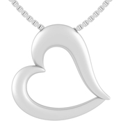 Sterling Silver 18mm Courageous Heart Pendant