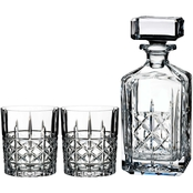 Marquis by Waterford Brady Decanter 32 oz. and Double Old Fashioned 11 oz. Set of 2