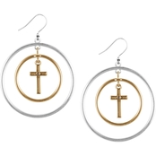 Lucky Brand Orbital Cross Drop Earrings