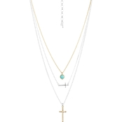Lucky Brand Cross Layer Necklace