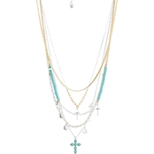 Lucky Brand Cross Statement Necklace