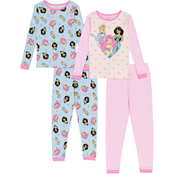 Disney Princess Little Girls Pajamas 4 pc. Set