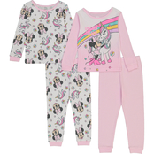 Disney Infant Girls Minnie Unicorn Cotton Pajama 4 pc. Set