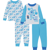 Nickelodeon Toddler Boys Blues Clues 4 pc. Cotton Pajama Set