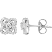 Love Honor Cherish 10K White Gold 1/3 CTW Diamond Fashion Stud Earrings
