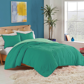 Utica Solid Reversible Comforter Set