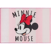 Minnie Mouse Stripes Area Rug 54x78 in.