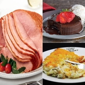 Kansas City Steak Co Ham, Baked Potato Casserole & Lava Cakes Meal