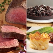 Kansas City Steak Co Beef Tenderloin Roast, Potatoes Au Gratin & Mud Cake Meal
