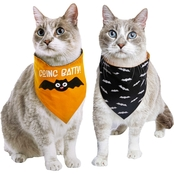 Bootique Bratty Batty Halloween Glow in the Dark Reversible Pet Bandanna