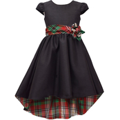 Bonnie Jean Little Girls Plaid Lined Dress