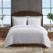 Sean John Pleated White Denim Comforter Set