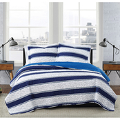 London Fog Watkins Stripe Quilt Set
