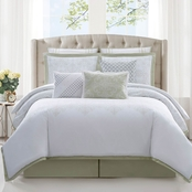 Charisma Belaire Cotton Eyelet 4 pc. Duvet Cover Set