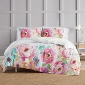 Christian Siriano Spring Flowers 3 pc. Duvet Cover Set