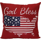 Brentwood Originals God Bless America Pillow 18x18 in.