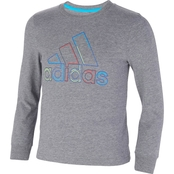 adidas Toddler Boys Heather Dash Line Badge of Sport Tee