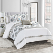 light Home Zela Luxury Embroidered 5 pc. Comforter Set
