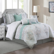 Elight Home Irish Embroidery 8 pc. Comforter Set