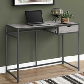 Computer Desk - 42L - Grey - Dark Grey Metal