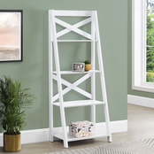 Chelsea Home Ladder Bookcase with 4 Shelves