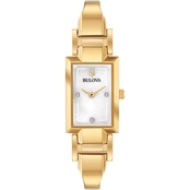 Bulova Women's Classic Gold Stainless Steel Bracelet Watch 97P141