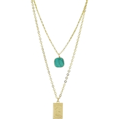 Panacea Stone Tag Two Row Necklace