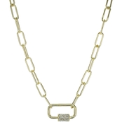 Panacea Chain Link Lock 24 in. Necklace