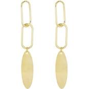 Panacea Goldtone Lock Chain Earrings
