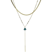 Panacea Drusy Layered Y Necklace