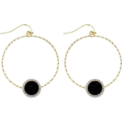 Panacea Pave Drusy Hoop Earrings